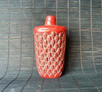 Chinese red coral Handmade Carved buddha Statue snuff bottle