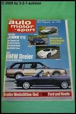 AMS Auto Motor Sport 18/87 * BMW 750 iL Cadillac Allanté Ferrari 308 Zender V3