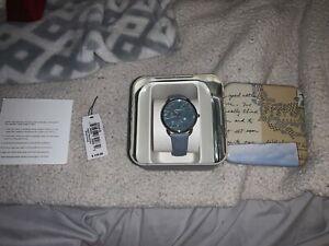 fossil watch women periwrinkle blue