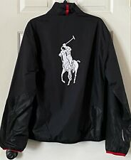 Polo Ralph Lauren Mens Athletic Windbreaker Full Zip Big Pony Jacket Size XL