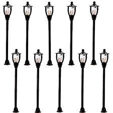 10x Straßenlampen Parklampen Gartenlampe 6V H0 1 flammig Höhe 6,2cm Variabl Neu