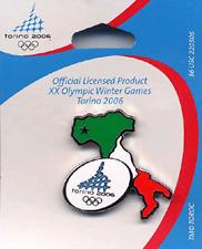 OLYMPICS 2006 MAP OF ITALY W/ TORINO SEAL PIN