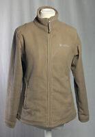Mountain Warehouse Thick Full Zip Jacket Fleece Olive Brown 14 Camping Hiking!