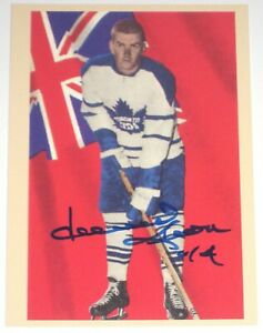 DAVE KEON SIGNED 1993 PARKHURST REPRINTS TORONTO MAPLE LEAFS CARD AUTOGRAPH!!