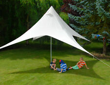 Portable Pyramid Ivory Shade Sail Kit with Poles & Ropes Square 4.5m Sun Canopy