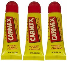Carmex Moisturizing Dry & Chapped Lip Balm Care Full Collection With SPF 15 Cherry Tube