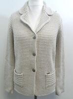 Julia Garnett Merino Wool Mix Cardigan Beige /Latte Size ITA 44 UK 12 BOX73 15 A