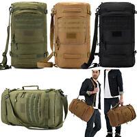 Waterproof Travel Backpack Rucksack Shoulder Bag Luggage Daypack  Schoolbag 3in1