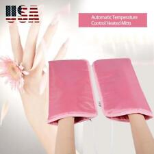 Electric Heated Spa Mittens Hand Gloves Warm Salon Skin Care Infrared Therapy