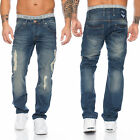 shikoba jeans pantaloni uomo vintage strappato denim blu Aspetto Usato SH-002