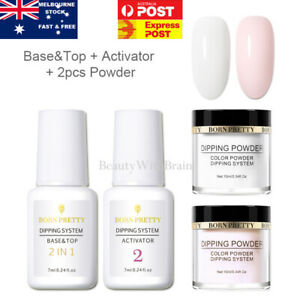 4 Pcs Nail Art Dipping Powder Liquid Polish Starter Kit