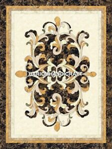 Italian Marble Table Top Mosaic Pietradura Art Inlay Rare Stone beautiful H4890