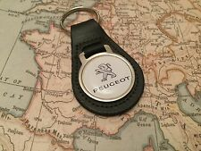 PEUGEOT Quality Black Real Leather Keyring 208 308 408 508 GTI 108 107 207 306