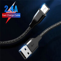 For Samsung Galaxy A70 A50 A40 A30 Nylon Type C Fast Charging Cable Data Charger