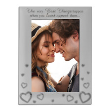 Love Photo Frame, Couples, Romance, Silver Plated 4 x 6 Inch