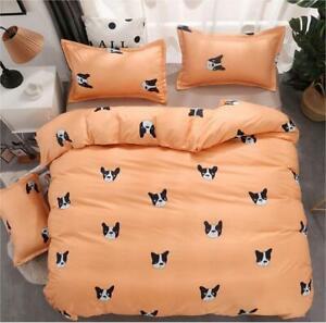 Cartoon Comfort Bedding Set Duvet Quilt Cover+Sheet+Pillow Case Four-Piece New