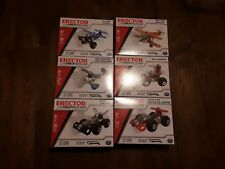 New Erector By Meccano Set of 6 Mini Kits - Car, Plane, Helicopter and More