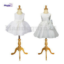 2 Child Mannequin Set : Size 1-2 Yr & 3-4 Yr + Wooden Bases - Kids Dress Forms