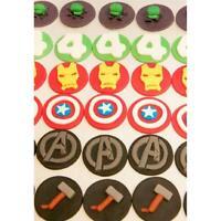 6pcs Super Hero Plastic Cupcake Mold Fondant Cookie Cutter Cake DIY Art Decor
