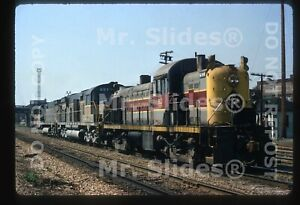 Original Slide EL Erie Lackawanna ALCO RS2 903 & D&H ALCO C628s Akron OH 1971