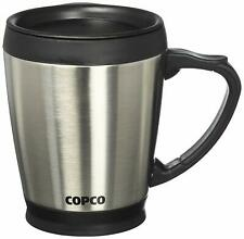 Copco Desktop Stainless Steel Coffee Mug With Easy Grip Handle 16 Oz - Silver