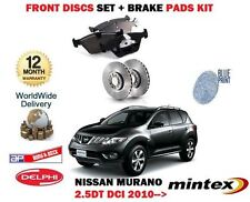 FOR NISSAN MURANO 2.5DT DCI 2010-> NEW FRONT BRAKE DISC SET + PAD KIT