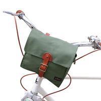 Tourbon Bike Handlebar Pannier Tote Bag Messenger Case ShoulderPack Heavy Canvas