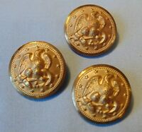 "U S Military Brass Buttons 7/8"" Vintage Stylized Eagle 13 Stars Lot Of 3"
