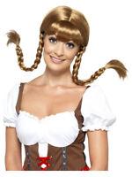 Bavarian Babe Wig, Plaited, Brown