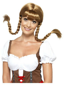 Bavarian Babe Wig, Plaited, Brown