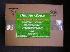 Moosverdränger Rasendünger kein Moosvernichter ohneGift für 500m² Sommerpaket