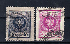Polen Briefmarken 1924 Adler im Lorbeerkranz Mi.Nr.210+211