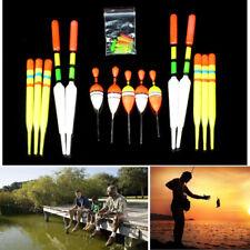 15 Pcs Fishing Floats Set Buoy Bobber Light Stick Plastic Floats Long Short Tail