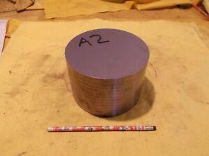 "A-2 TOOL STEEL ROD machine mold die shop round bar stock A2  5 3/4"" OD x 3 3/4"""