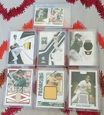 Oakland Athletics Jersey Patch Bat Lot Miguel Tejada Eric Chavez Billy Butler