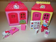 MEGA BLOKS BRICKS HELLO KITTY HOUSE SCHOOL CANDY SHOP FIGURE REPLACEMENT LOT