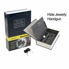 Safe Dictionary Secret locker Hidden Book Lock Security Money Stash with Key US