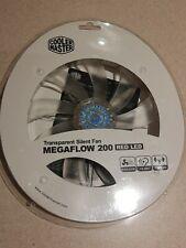 NEW 5 Pack Cooler Master Megaflow 200mm Red LED Transparent Silent Fan - 110CFM