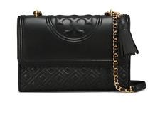 Tory Burch Fleming Large Convertible Shoulder Bag Black 31381 Free Gift