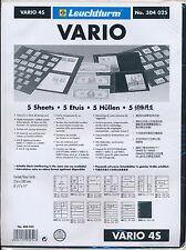 LIGHTHOUSE 25 VARIO STOCK SHEETS 4S FOUR POCKET BLACK BACKGROUND