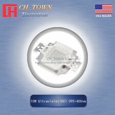 1Pcs 10W Watt High Power Ultra violet UV 395-400nm SMD LED Chip Blub Beads Lamp