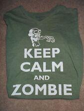 Bluenotes Boys Medium Shirt (Keep Calm & Zombie On)