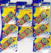 128 Super Soaker Clip On Targets Dissolving Squirt Gun Water Fight Outdoor Party