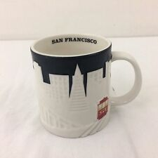 "Starbucks Collector Series City Mug San Francisco Coffee Cup Black White 4"" 19oz"