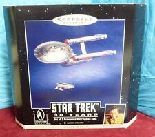 1996 PARAMOUNT PIC HALLMARK STAR TREK 30YR KEEPSAKE ORNAMENTS VOICE MAGIC SH4G