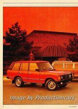 1988 Range Rover Jeep Grand Wagoneer Car Review Report Print Article J777
