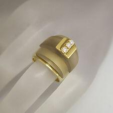 Designer Ring mit ca. 0,18ct Brillant TW-vsi und Rauchquarz 18K Handarbeit 22,9g