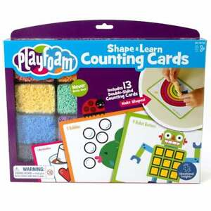Playfoam Shape & Learn Counting Cards - Sculpt Numbers & Count Shapes