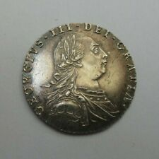 More details for 1787 silver sixpence 6d george iii spink ref 3749 aunc with semee of hearts cc2