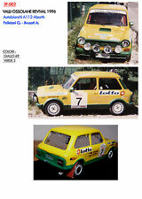 002 DECALS 1/43 AUTOBIANCHI A112 FELICIANI VALLI OSSOLANE REVIVAL 1996
